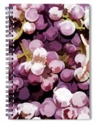 Colorful Pink Tasty Grapes In The Basket Spiral Notebook