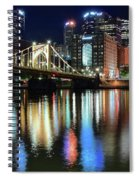 Colorful Pittsburgh Lights Spiral Notebook