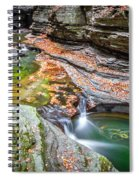 Colorful Pool In The Gorge Of Watkins Glen Spiral Notebook
