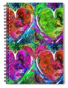 Colorful Pop Hearts Love Art By Sharon Cummings Spiral Notebook