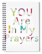 Colorful Prayers- Art By Linda Woods Spiral Notebook