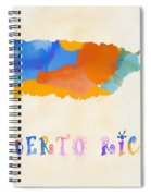 Colorful Puerto Rico Map Spiral Notebook