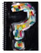 Colorful Questions- Abstract Painting Spiral Notebook