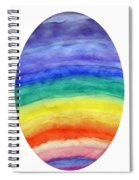 Colorful Rainbow Colored Egg Spiral Notebook