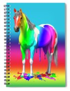 Colorful Rainbow Paint Horse Spiral Notebook