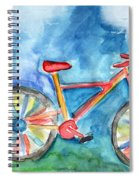 Colorful Ride- Bike Art By Linda Woods Spiral Notebook