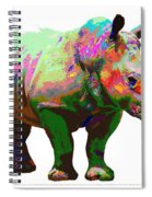 Colorful Rihno Spiral Notebook