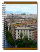 Colorful Rome Cityscape Spiral Notebook
