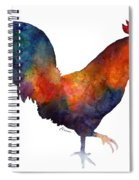 Colorful Rooster Spiral Notebook