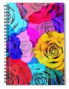 Colorful Roses Design Spiral Notebook