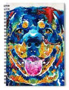 Colorful Rottie Art - Rottweiler By Sharon Cummings Spiral Notebook