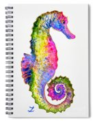 Colorful Seahorse Spiral Notebook