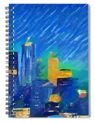 Colorful Seattle Skyline Panorama Spiral Notebook