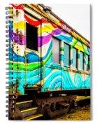 Colorful Skunk Train Passenger Car Spiral Notebook