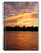 Colorful Sky At Sunset Spiral Notebook