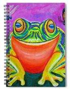 Colorful Smiling Frog-voodoo Frog Spiral Notebook