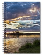 Colorful Snake River Spiral Notebook
