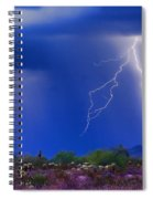 Colorful Sonoran Desert Storm Spiral Notebook