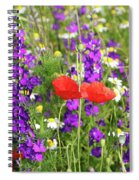 Colorful Spring Wild Flowers Spiral Notebook