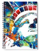 Colorful Statue Of Liberty - Sharon Cummings Spiral Notebook
