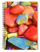 Colorful Stones Spiral Notebook