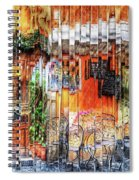 Colorful Street Cafe Spiral Notebook