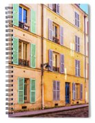 Colorful Street In Paris Spiral Notebook