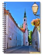 Colorful Street Of Baroque Town Varazdin  Spiral Notebook