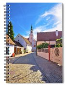 Colorful Street Of Baroque Town Varazdin View Spiral Notebook