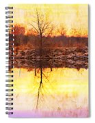 Colorful Sunrise Textured Reflections Spiral Notebook