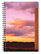 Colorful Sunset In The Country Spiral Notebook