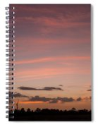 Colorful Sunset Over The Wetlands Spiral Notebook