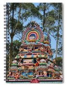 Colorful Temple, Valparai Spiral Notebook