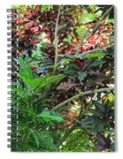 Colorful Tropical Plants Spiral Notebook