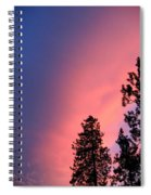 Colorful Twilight Time Spiral Notebook