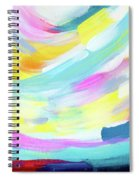 Colorful Uprising 4 - Abstract Art By Linda Woods Spiral Notebook