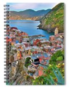Colorful Vernazza From Behind Spiral Notebook
