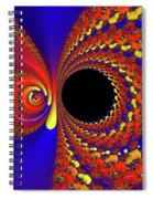 Colorful Vortex Spiral Notebook