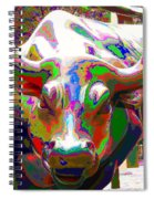 Colorful Wall Street Bull Spiral Notebook