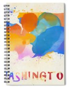 Colorful Washington State Map Spiral Notebook