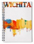 Colorful Wichita Skyline Silhouette Spiral Notebook
