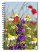 Colorful Wild Flowers Nature Scene Spiral Notebook