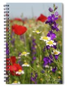 Colorful Wild Flowers Nature Spring Scene Spiral Notebook