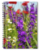Colorful Wild Flowers Spring Scene Spiral Notebook