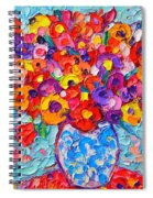 Colorful Wildflowers - Abstract Floral Art By Ana Maria Edulescu Spiral Notebook