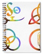 Colorful Zoso Symbols Spiral Notebook