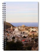 Colorfusk Dusk Sky Over A Typical Mexican Town Spiral Notebook