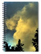Coloring Clouds Spiral Notebook