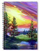 Colors In The Sky Spiral Notebook