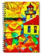 Colors Of Lime Kiln Lighthouse Spiral Notebook